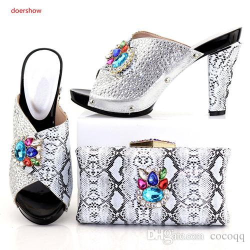 Shoes And Bag Set New 2018 Women Shoes And Bag Set In Italy Italian Shoes with Matching Bags Set A1-42