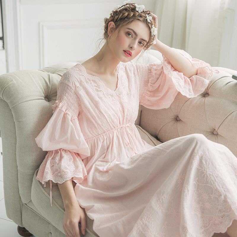2019 2018 New Summer Maternity Cotton Nightgown Princess Nightgown Ladies Nightwear  Women Long Night Sleeping Dress Women Pajamas From Namenew 7fb4ab5d9