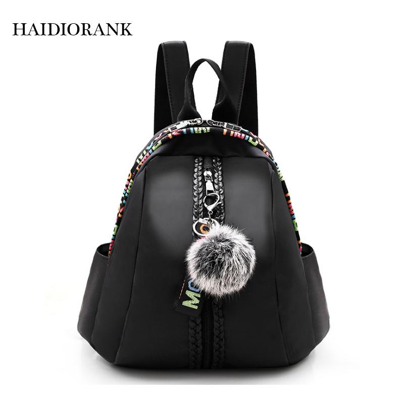 eb61fc6504 Women S Backpack 2018 Fashion School Little Backpacks For Teenage Girls  Nylon Bag Waterproof Small BagPack Letter Mini Backpack Best Backpacks Girls  ...