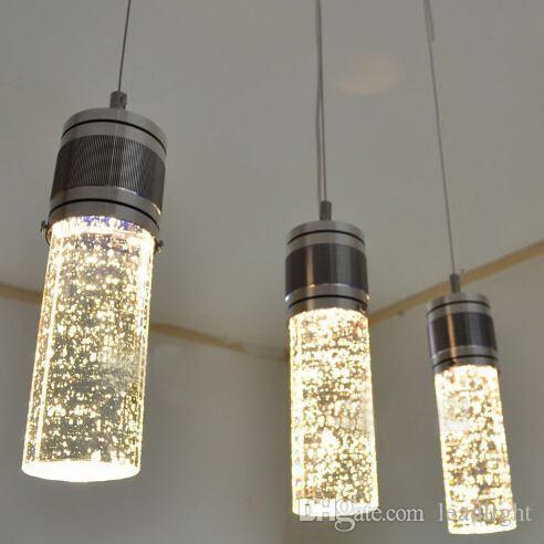 Creative Colonne Suspension Lampe Gratuite Pendentif Livraison Lumières Lampes Cristal Style Bulle Moderne Led Lustre Trois cFlK1TJ5u3