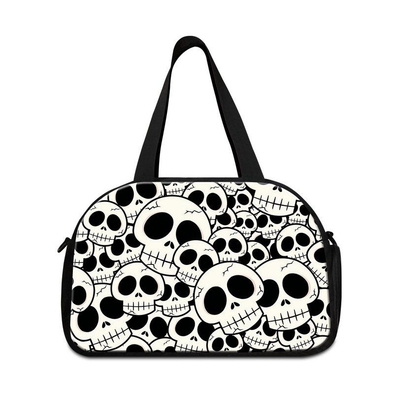 84f2356bde Skull Print Unisex Fashion Mens Duffle Lightweight Womens Shoulder Tote GYM  Bag For Sports Teens Boys Girls Travel Tote Personalized Bags Buy Bags  Online ...