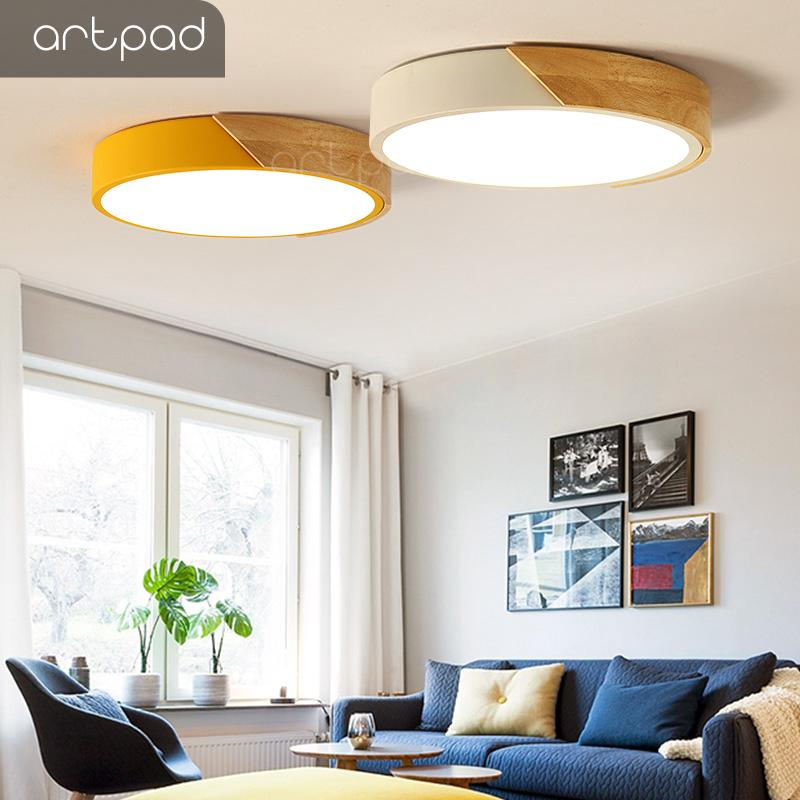 Enthusiastic 24w Round Led Ceiling Lights Modern Flush Mounted Led Ceiling Lamp For Living Room Bedroom Decoration Fixtures Lighting Elegant In Smell Lights & Lighting Ceiling Lights & Fans