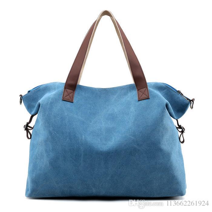 Korean Casual Canvas Satchels Handbags Shoulder Bag Vintage Cross Body Bag  For College Girl 2080 Bags Store Cheap Purses Handbags For Women From ... 3e687ef83a85f