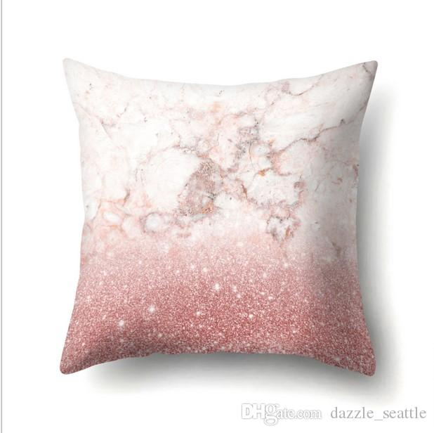 40 40cm Home Sofa Pink Rose Gold Polyestethrow Pillow Covers Cool Rose Gold Decorative Pillows