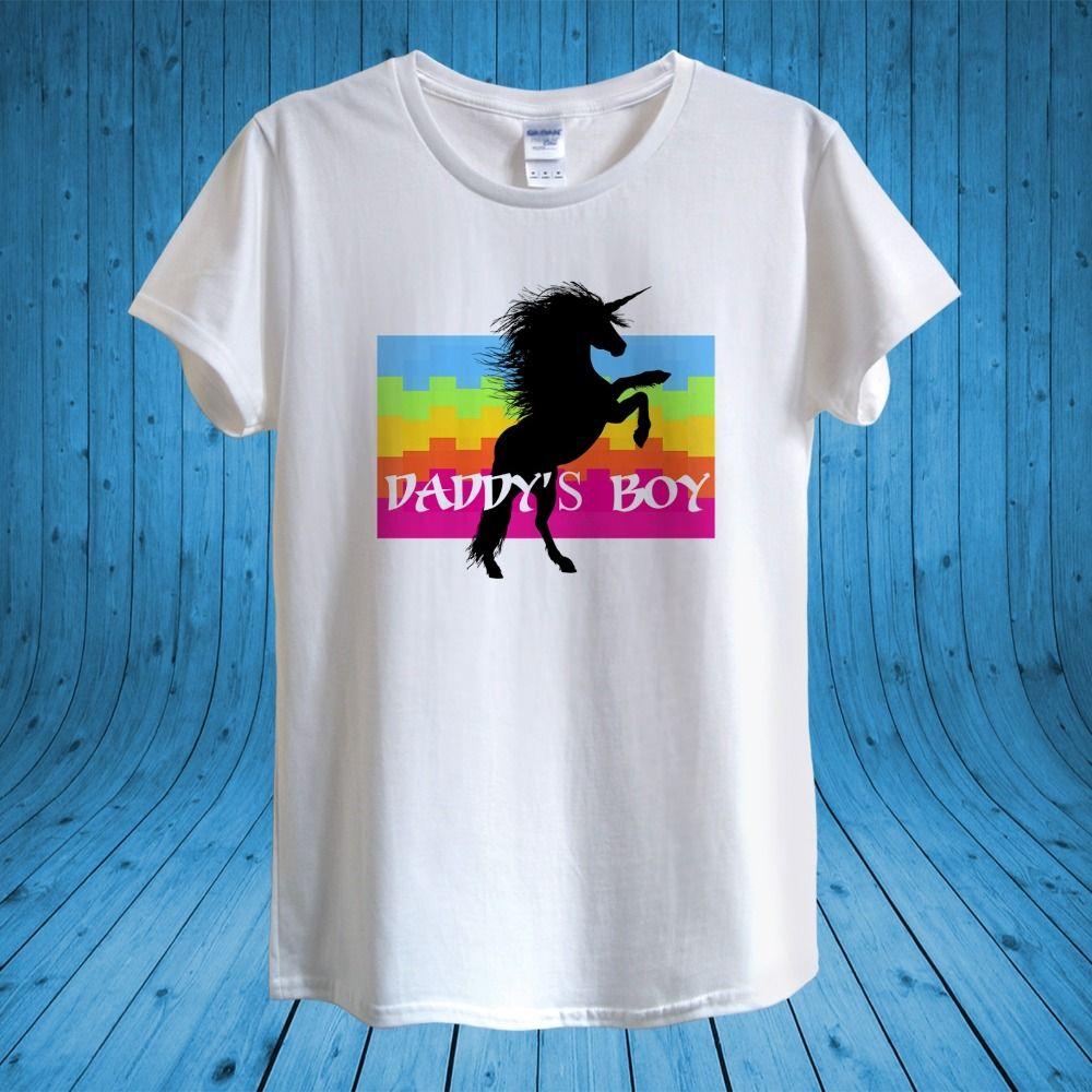 29e87eb6 2018 Fashion Hot Daddy's Boy LGBT T-shirt Design unisex man women fitted  Tee shirt