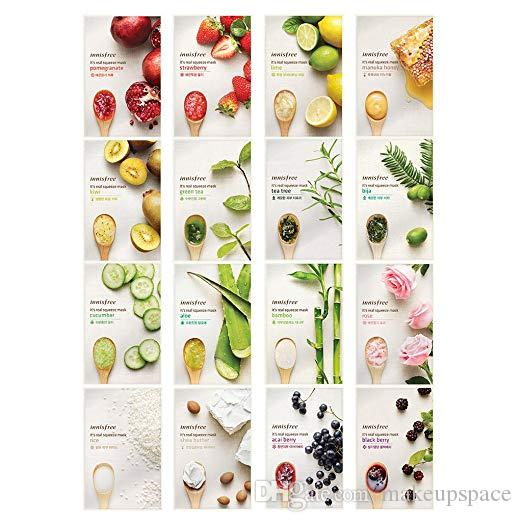Innisfree Face Mask Sheet Squeeze Mask Facial Mask Skin Care Korea Brand DHL free Shipping