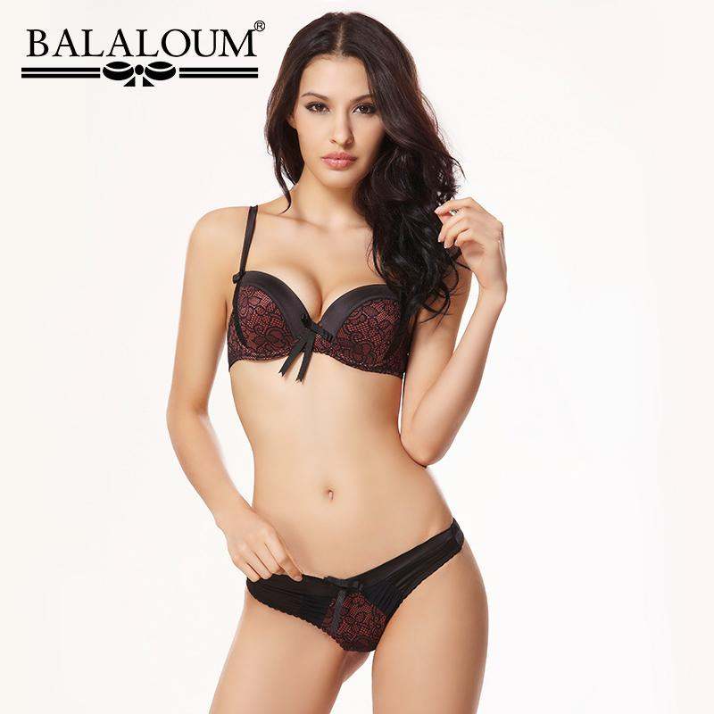 d22e2a95c9 Wholesale Sexy Floral Lace 3 4 Cup Push Up Bra Panty G-String Sets Women  Brassiere Seamless T Back Thongs Underwear Lingerie Set Online with  40.3  Set on ...