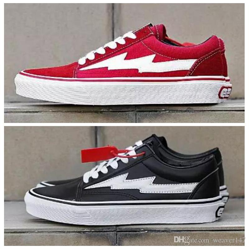 for cheap for sale (with box) 2018 Revenge X Storm old skool men women Casual Shoes Classic black white red Canvas sports sneakers skateboard shoes size 36-44 clearance new latest collections cheap price 6OtVC