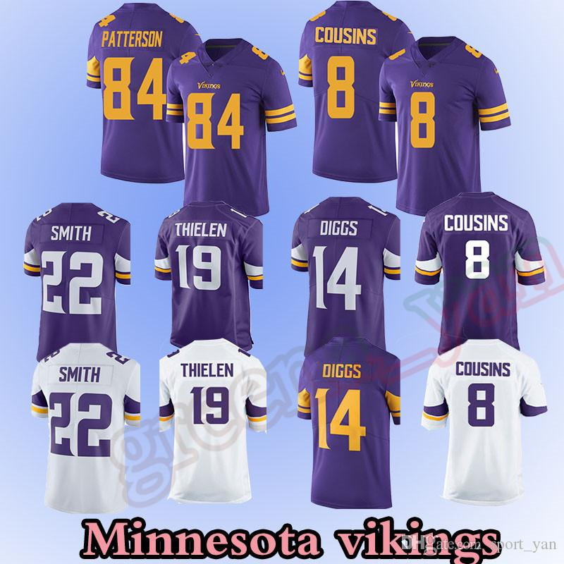 f4a8fb202 ... where to buy minnesota vikings jerseys 8 sam bradford 19 adam thielen  22 harrison smith minnesota
