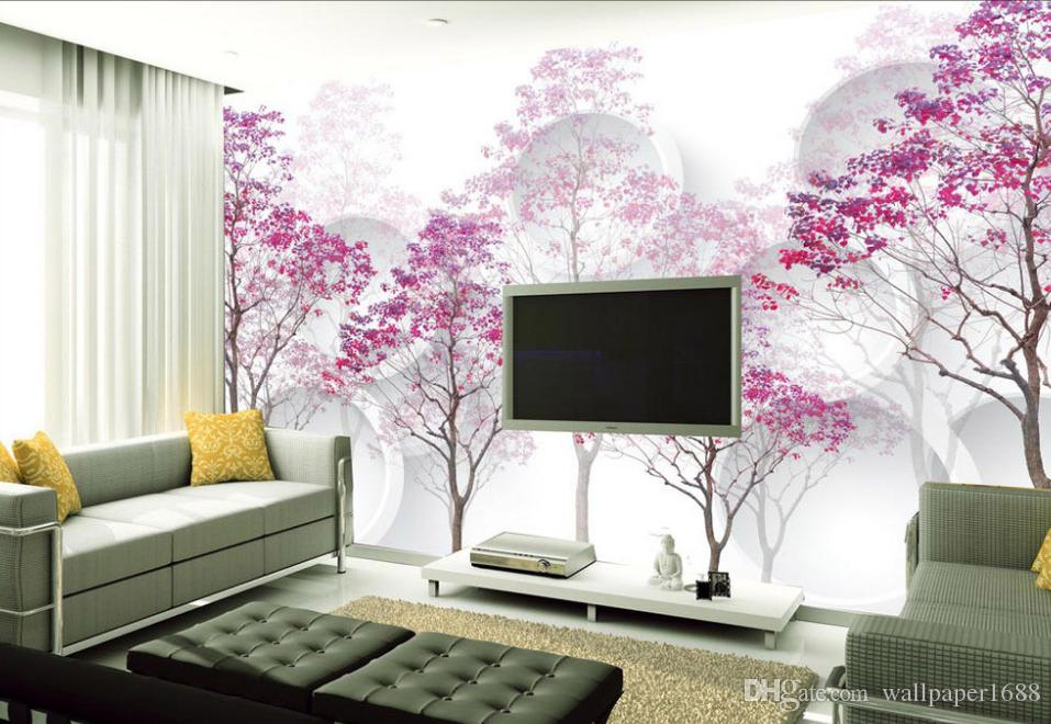 Custom Photo Wallpaper Large Wall Painting Background Wallpaper Purple  Woods Home Decor Living Room Wall Covering Actress Wallpaper Actress  Wallpapers ...