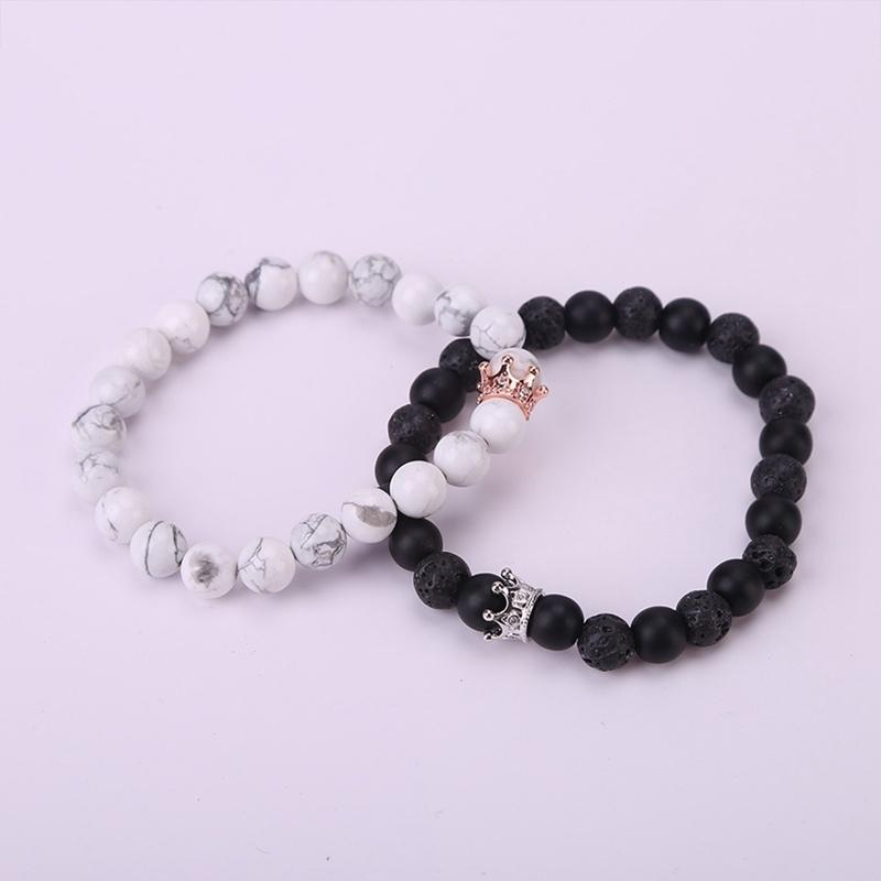 3591baf06e King&Queen Crown Couple Bracelets His And Her Friendship 8mm Beads Bracelet  JJDHb1aef05d Online with $6.56/Piece on Acquaaintanceship's Store |  DHgate.com