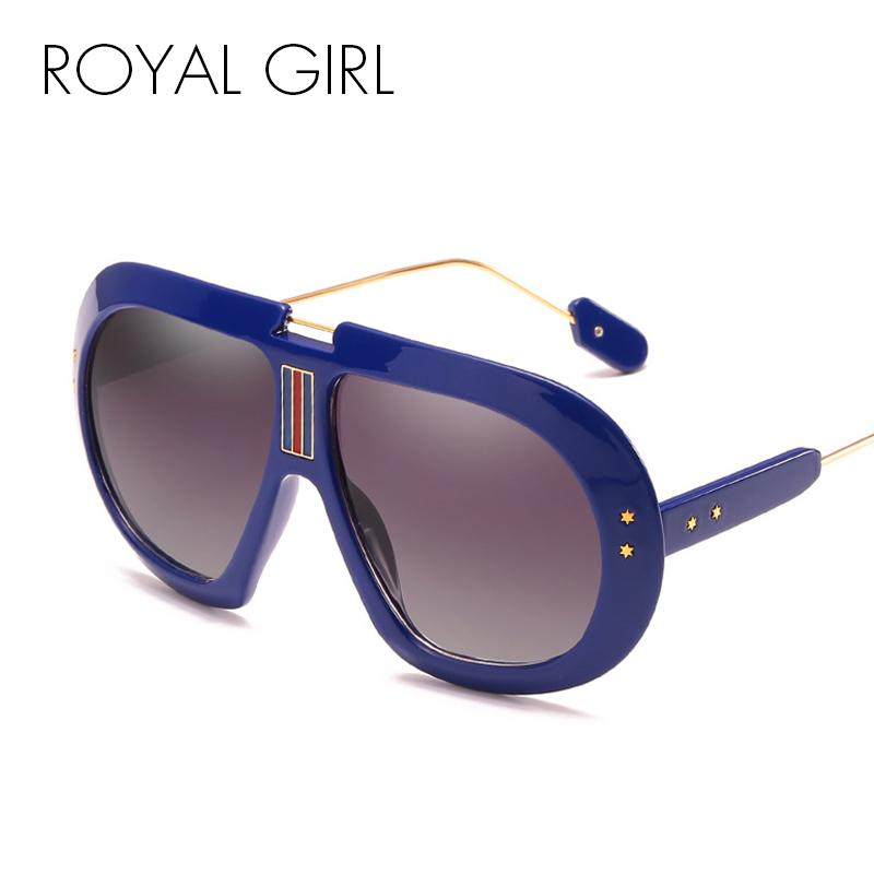 ff8e4aa36f7d2 ROYAL GIRL Oversize Sunglasses Men Vintage Brand Designer Black Clear Sun  Glasses Women Retro Rivet Big Frame Oculos UV400 Ss733 Native Sunglasses  Wholesale ...