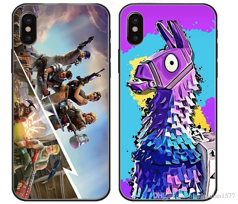 premium selection d16e2 86ed6 Customizable Battle Royale Fortnite Phone Case For iPhone X 8 7 6 6S Plus  5S case Soft Cover Fortnite Bomb Unicorn for Samsung Huawei