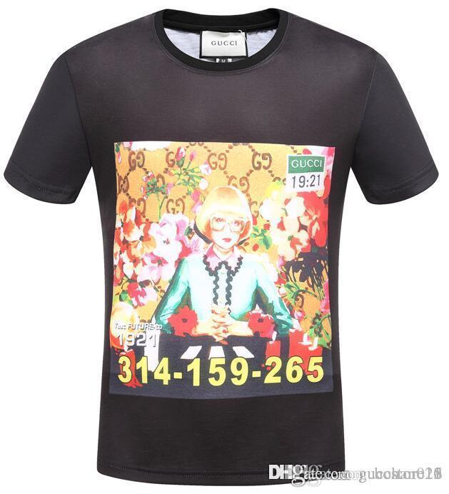 341cc463548 2019 Summer Brand Designer T Shirts For Men Tops Tiger Head Letter Print T  Shirt Mens Clothing Short Sleeve Tshirt Women Tops T Shirt Every Day Funny  Cool ...