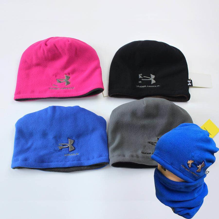 c09d083e6b566 Brand UA Hats Scarf Winter Under Knitted Hat Neck Collar Scarves ...