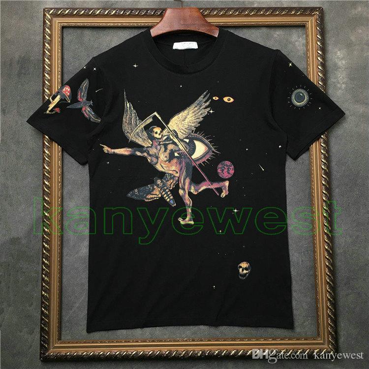 2018 Hot marque tag vêtements hommes manches courtes t-shirt de bonne qualité t-shirt crâne du diable imprimer t-shirt Designer t-shirts Camiseta tee tops