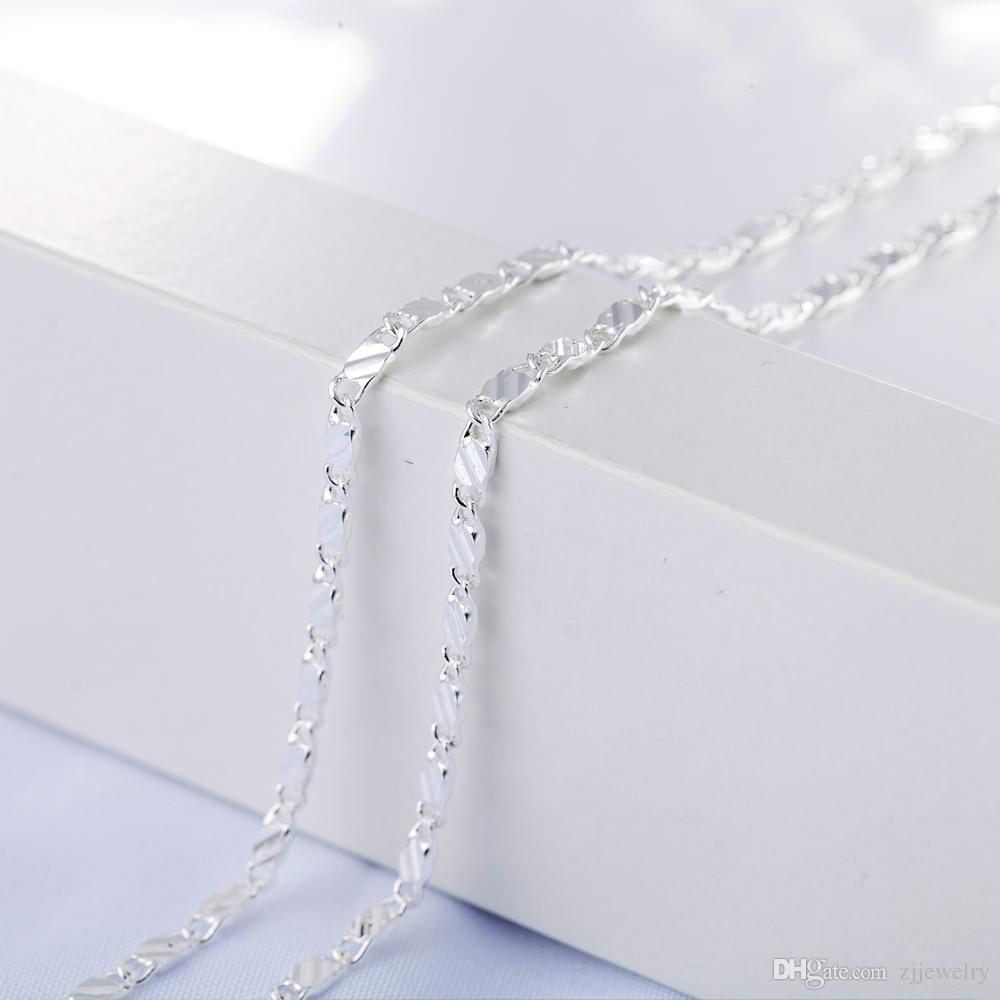 New 2MM Slim Silver Color Necklace for Women/ Men Link Chains 45-77cm Factory Necklace Jewelry X219 drop shipping
