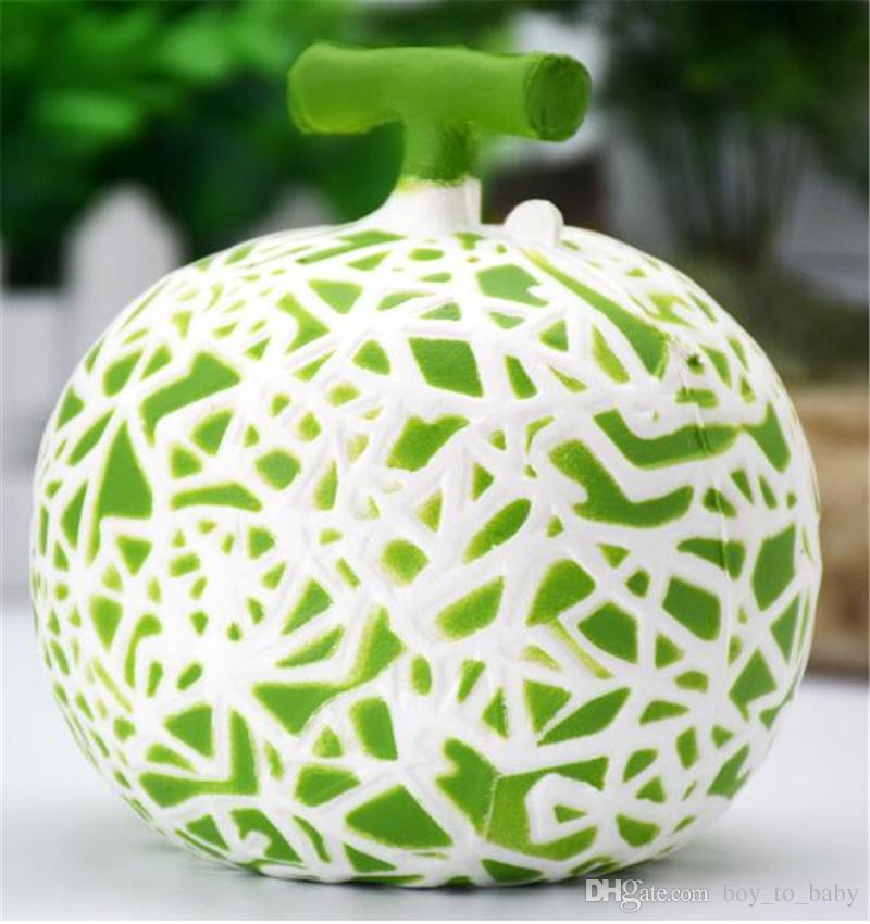 Squishy Hamigua Melon Jumbo Fruit Slow Rising 10CM Retai Package Phone Straps Scented Pendant Bread Cake Fun Kid Toy Gift