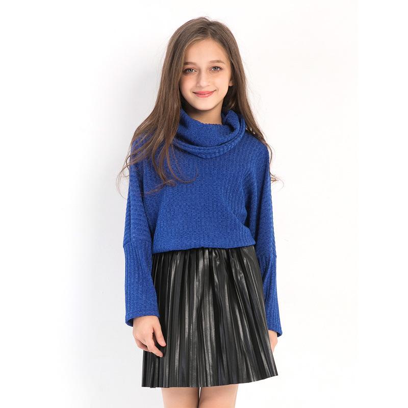 Girls Sweaters Turntneck Imitation Sweater Bottoming Shirt Autumn