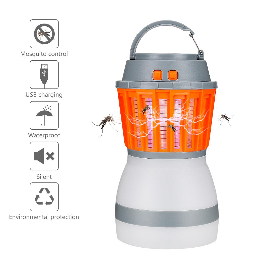 Outdoor Lighting Electronic With Retractable Hook Mosquito Killer Lamp Led Camping Light Solar Powered Dual Purpose Usb Rechargeable Household Lights & Lighting