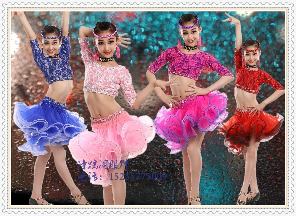 9faca986c New Girl Latin Dance Dress Children Latin Dance Clothes Children ...