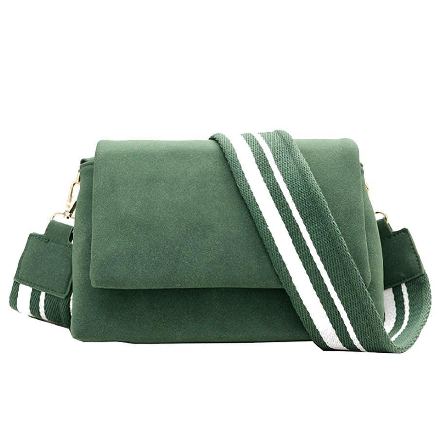 ef256e4962f7 Hot Sale Wide Strap Women Messenger Bag Cover Scrub Flap Party Purse ...