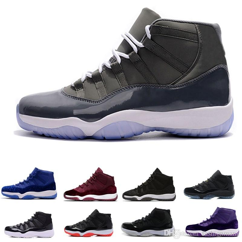 Wholesale 11 Prom Night Gym Red Midnight Navy Black Stingray Bred Concord  Space Jam Shoes 11s Mens Womens Kids Basketball Sneaker Sneakers Jordans  From ... 9f5963c1e7