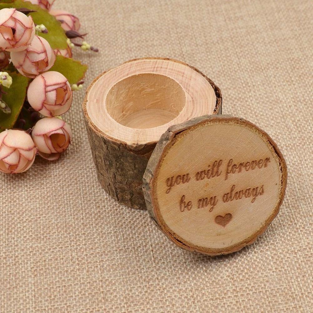 Grosshandel Rustikale Hochzeit Holz Ring Bearer Box Werden Sie Fur