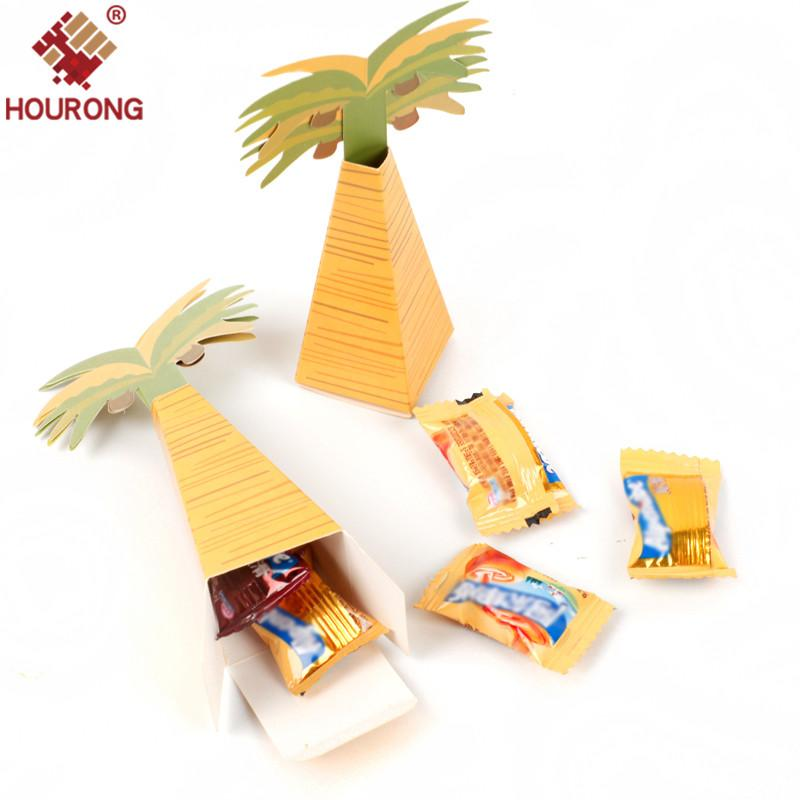 Hot Selling European Creative Palm Tree Coconut Tree For Wedding Favor Party Event Supplies Gifts Candy Box Christmas Gift Paper Christmas Gift Rap From