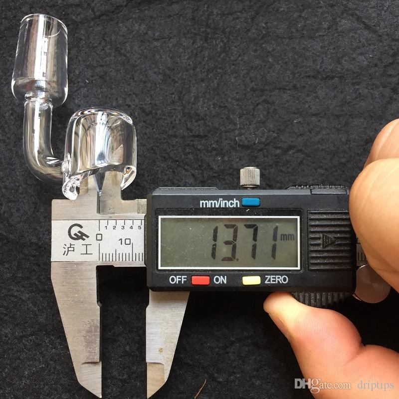 100%True 4mmクォーツネイルドームレスバケツバジェットバンガークォーツネイル14mm / 19mm男性/女性ジョイント45水道管の90度