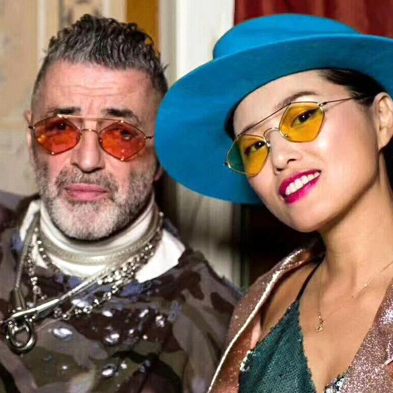 96e265e7c6a 2018 New Polygon Sunglasses Women Men Brand Designer Vintage Small Clear  Sun Glasses Fashion Red Hexagon See Through Shades Sunglasses For Women Cat  Eye ...