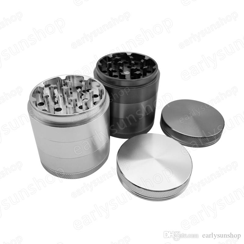 Creative smooth shiny gold silver zinc alloy metal herb grinder spice tobacco grinder tobacco Spice crusher accessories
