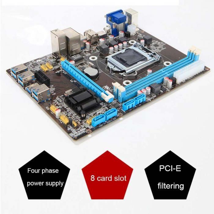 B85 BTC+ETH Mining Bitcoin I-E USB3.0 directly Slots Mainboard for Intel XXM8