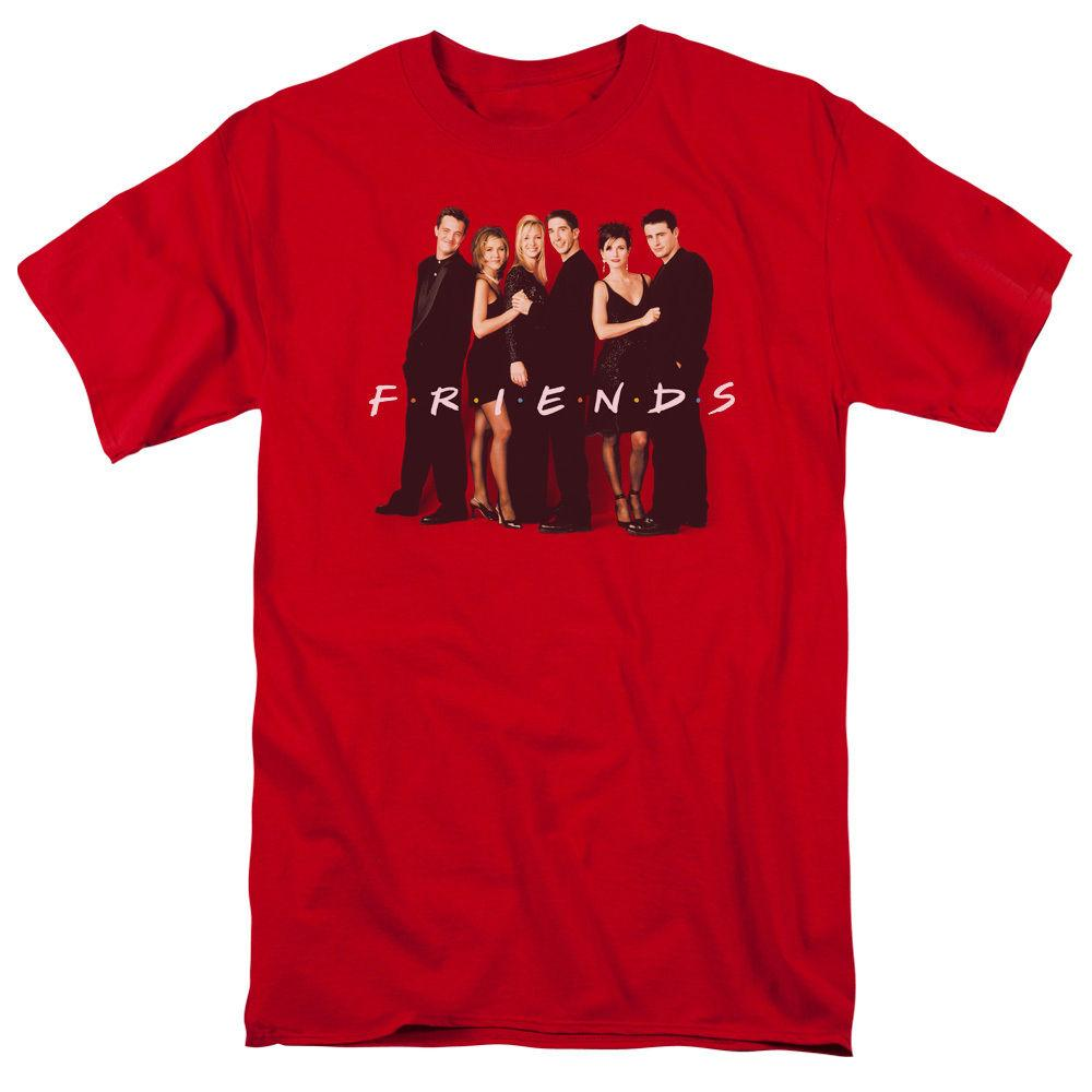 ccf8a2e3 Friends TV Show Cast Picture Dressed Up in Black Licensed Tee Shirt ...