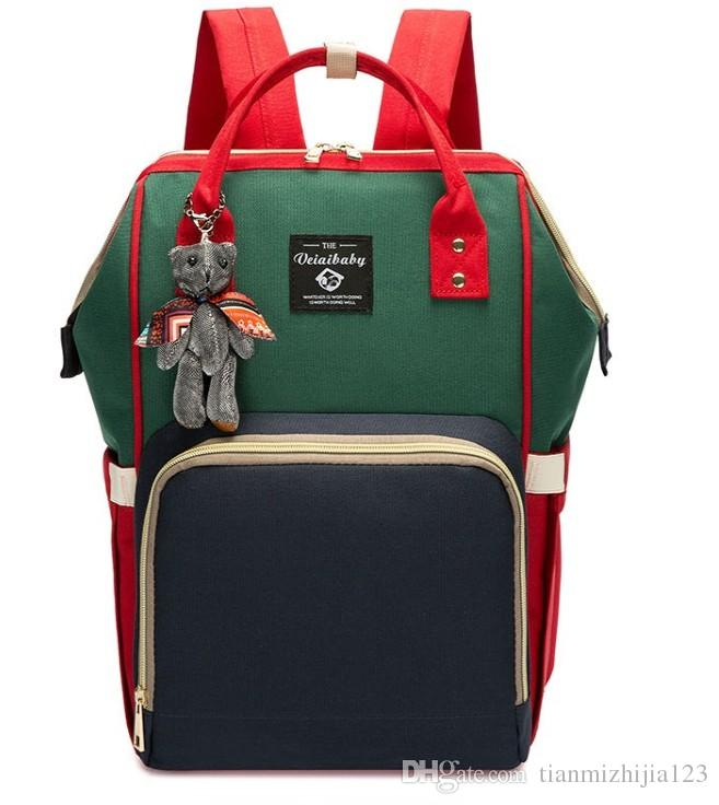 Muta multifunzionale a tracolla multifunzione borsa grande capacità madre, pacchetto viaggio mamma moda