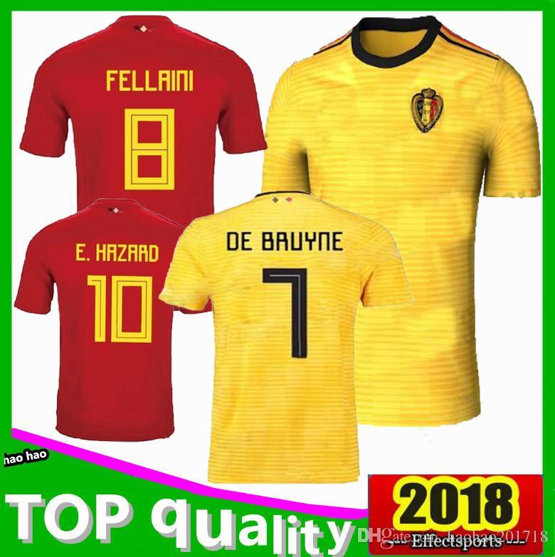 599156ed7 2019 2018 World Cup Belgium Soccer Jersey 2018 Thail Quality Home Away  LUKAKU FELLAINI E.HAZARD KOMPANY DE BRUYNE 18 19 Belgium Football Shirt  From ...