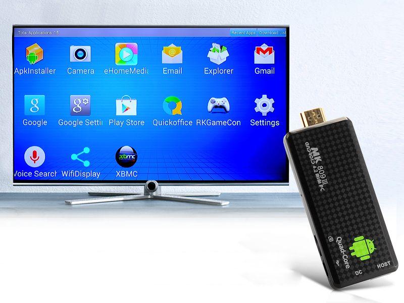 Heißer Verkauf MK809III Android 7.1 Mini-PC RK3229 Viererkabelkern 2GB / 8GB voller HDMI 1080p HDMI bluetooth Fernseh-Dongle-Stock