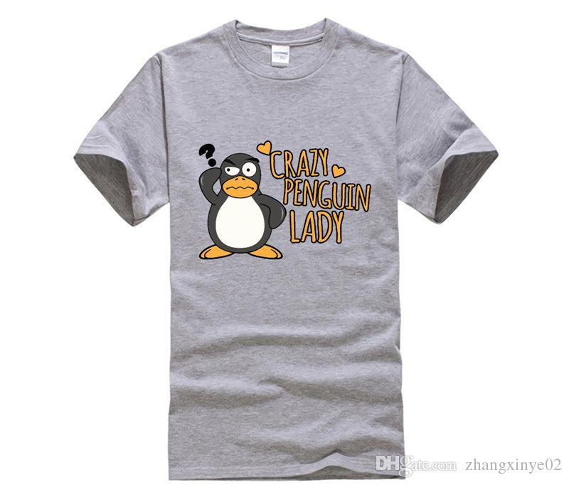 1a18d5fc7f28f Acheter Marque De Mode T Shirt Femme Crazy Penguin Lady Funny Manches  Courtes Tshirts Nouveauté Blanc De $14.21 Du Zhangxinye02 | DHgate.Com
