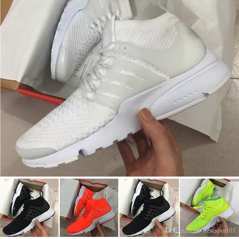 100% authentic bccfc b96ae Acheter 2018 Vente Chaude Nike Air Presto Ultra Olympique Br Qs Femmes  Hommes Casual Chaussures Marine   Rouge   Or Mode Casual Marcher Air Sport  Sneakers ...