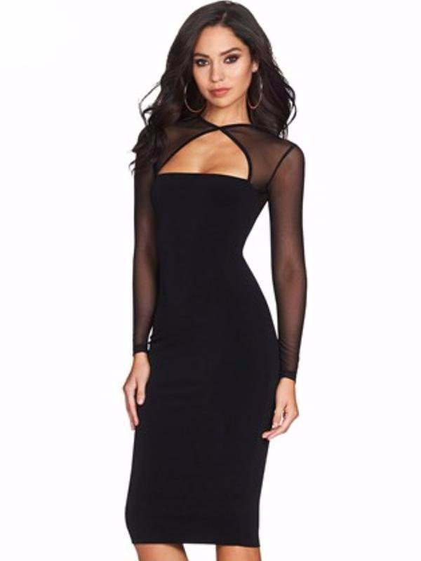 Sexy Women Dress Bandage Bodycon Long Sleeve Clubwear Party Pencil Dress  Mesh See Through Women Clothes Dresses Ladies Black Dress Summer Lace  Dresses From ...