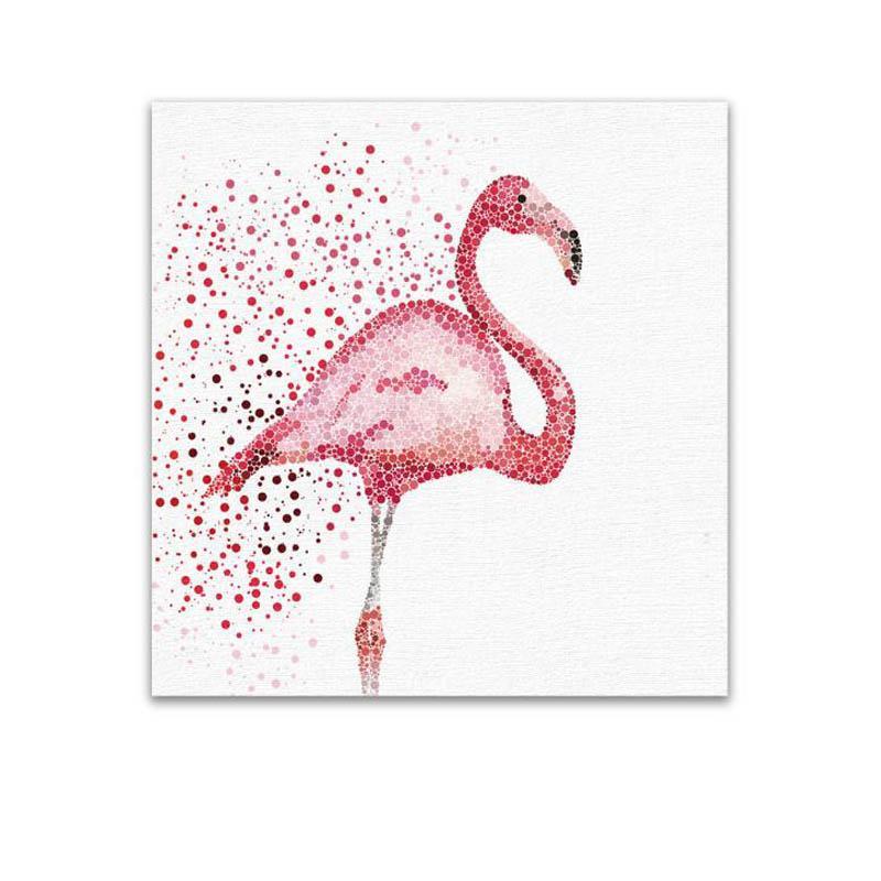 Satın Al Suluboya Flamingo Oturma Odası Için Tuval Sanat Dekorasyon