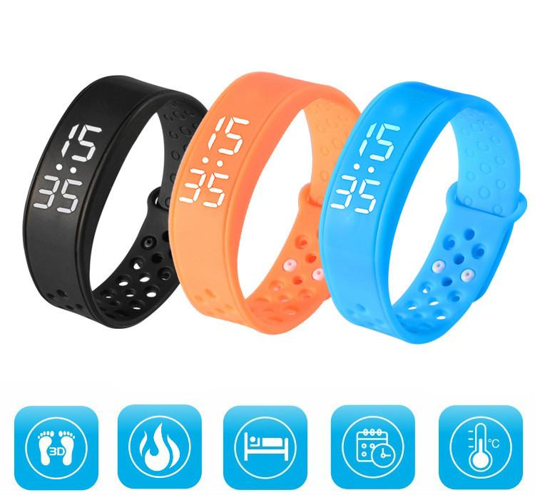 Free Shipping fashion Sports Bracelet LED Multi-Color Digital Wrist intelligent Touch Watch Men and women outdoor sports fitness wristband