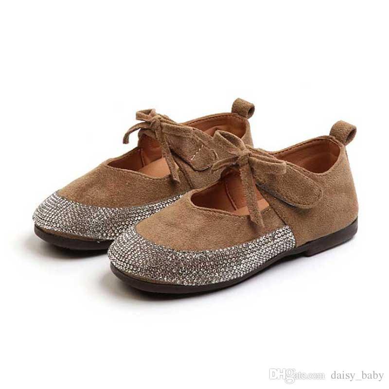 cdd26aa2217483 Acheter Enfants Chaussures Filles De Mode Faux Bijoux Conception Princesse Chaussures  Fille Fond Souple Chaussures Enfants Étudiant École Skate Chaussures ...