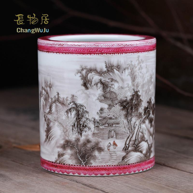 2019 Changwuju Jingdezhen Home Decoration Handmade Artwork Brush Pot