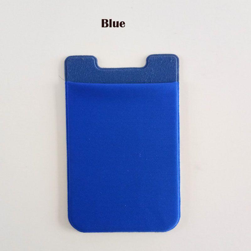 OEM logo Élastique Lycra Mobile Téléphone Portefeuilles Titulaire de la Carte de Crédit Pochettes Adhésif Autocollant pour iPhone x 8 6 6 s 7 Plus Samsung