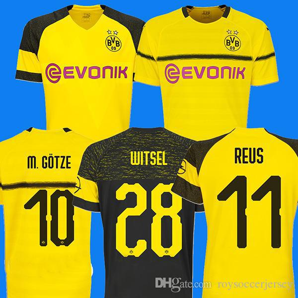 Qualidade SUPERIOR BVB Borussia Dortmund Camisa de Futebol 2019 PHILIPP  GOTZE SANCHO REUS PULÍSTICO WITSEL Jersey 18 19 CAMO ALCACER camisa de  Futebol kit 7071f2bce8a8c
