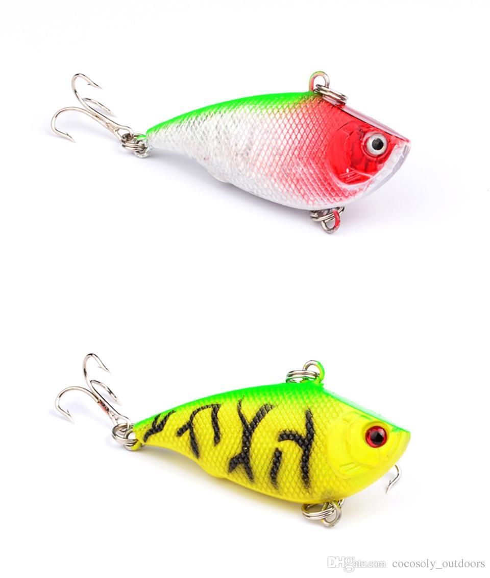 Hot Sale Fishing VIB Bait Lures 3d Eyes With Treble Hooks Crankbait 5.5cm/7.5g