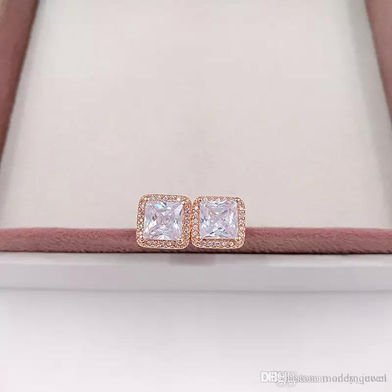 9ec5cadc4 2019 Rose Gold Earrings Fits Pandora Style Jewelry Timeless Elegance Stud  280591CZ H9 From Modernqueen, $64.45 | DHgate.Com