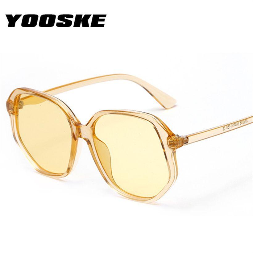 f0d663115b YOOSKE Irregular Oversized Sunglasses Women Fashion Brand Designer Sun  Glasses Male Vintage Candy Color Glasses Shades UV400 Eyewear Designer  Sunglasses ...