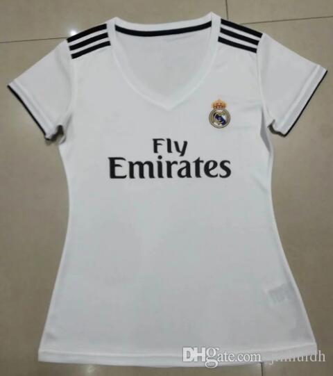 8e9310f08 Women 18 19 Real Madrid Soccer Jersey Benzema Ronaldo Football ...